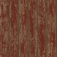 Brax Red Faux Weathered Clapboards Wallpaper