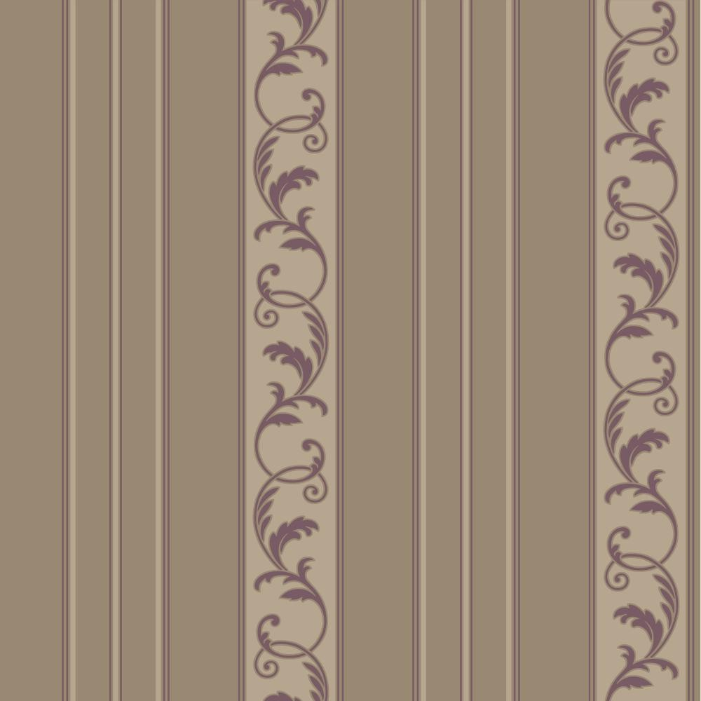 JR5722 damask stripe scroll