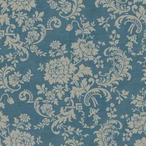 JR5736 silk floral scroll wallpaper