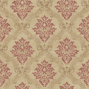 JR5764 framed damask medallion wallpaper