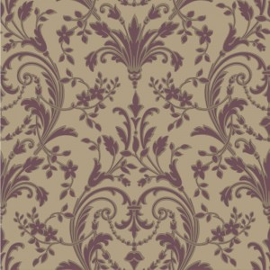 JR5823 Floral Damask Wallpaper