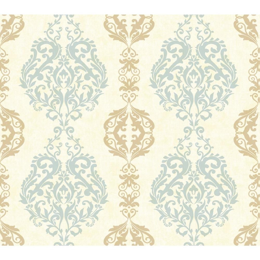 WB5437 Damask Stripe Wallpaper