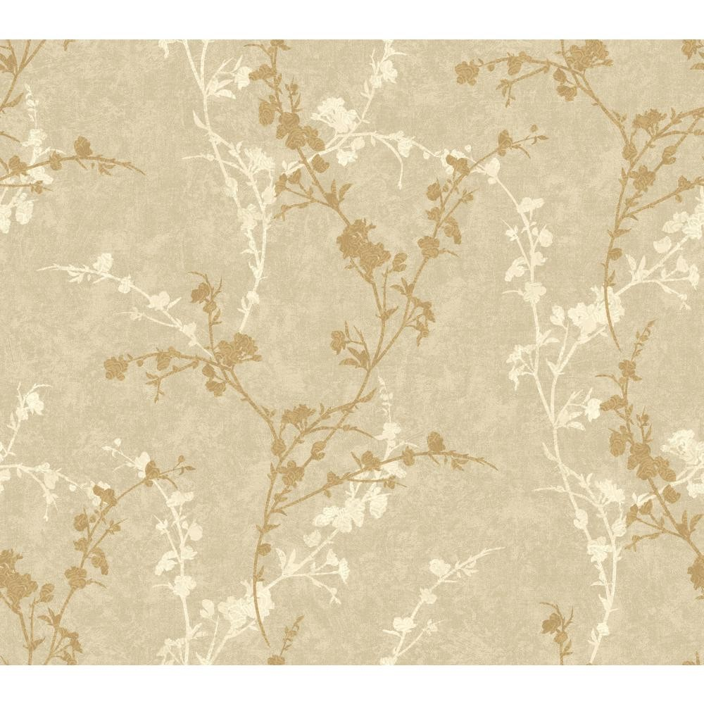 WB5446 Delicate Floral Branch Wallpaper