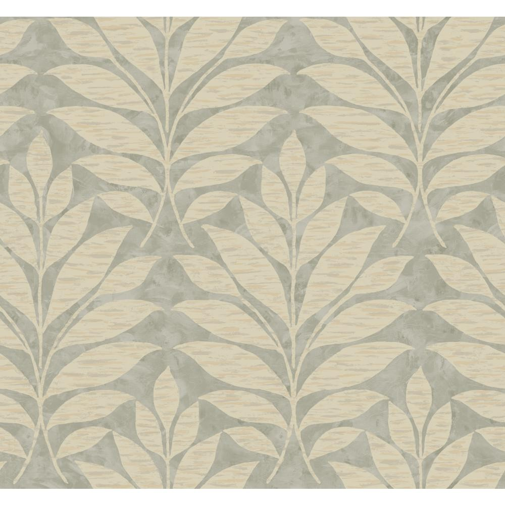 WB5494 Textural Leaf Damask Wallpaper