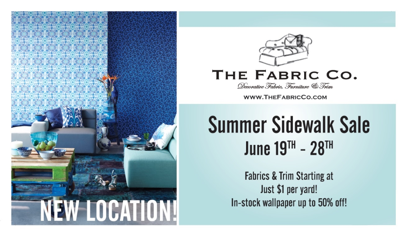 The Fabric Co Side Walk Sale