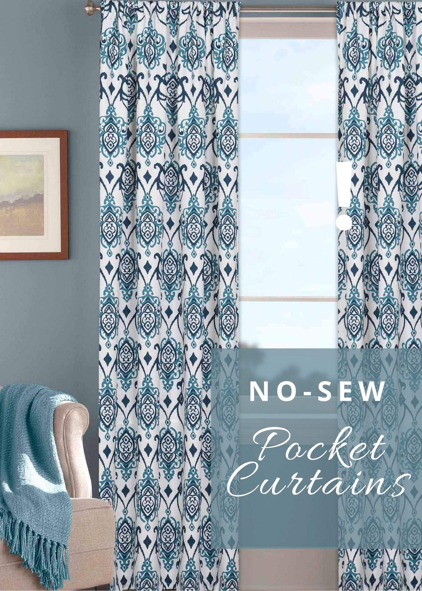 DIY How To Make No Sew Pocket Curtains